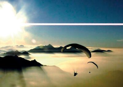 Paraglider von der Hochries